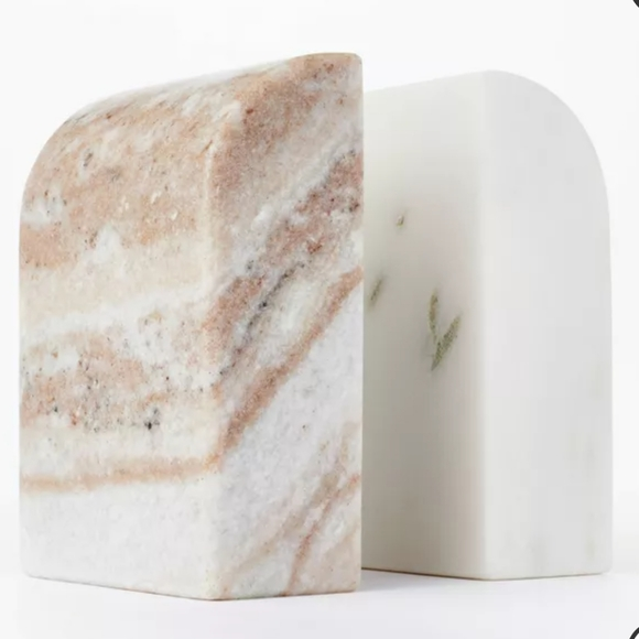 Bookends Threshold studio McGee marble stone